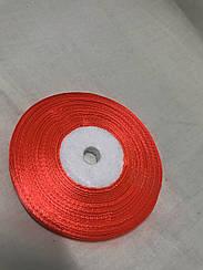 Лента атласная,ширина 0,5 см (33 м ) цвет красный