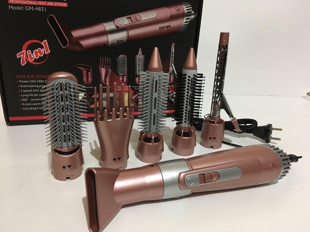Фен для укладання волосся з насадками 7 В 1 GM-4831 (12 шт/ящ)