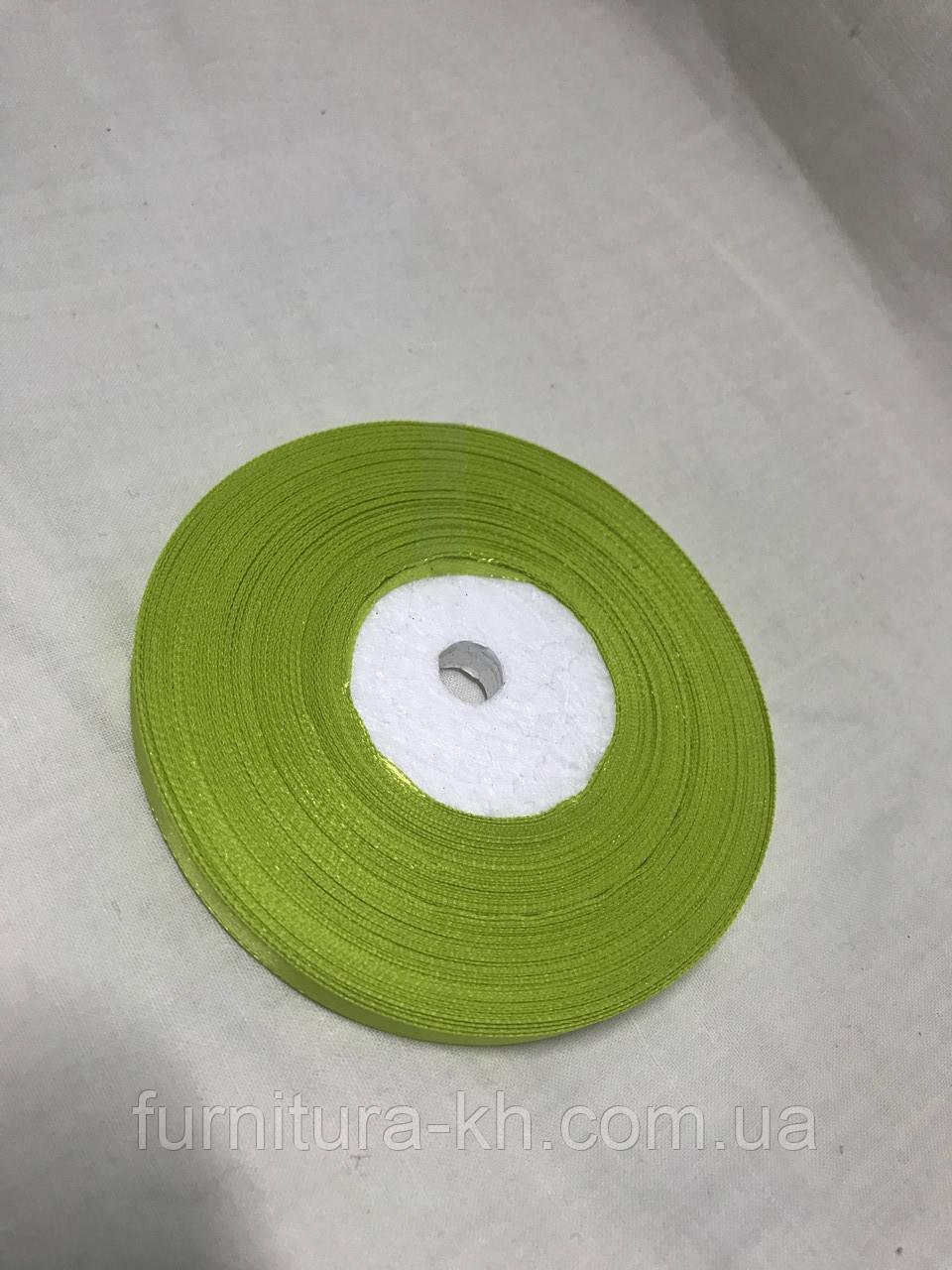 Лента атласная,ширина 0,5 см (33 м ) цвет  салатовый