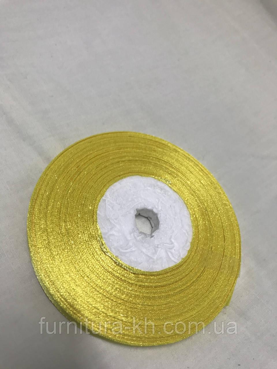 Лента атласная,ширина 0,5 см (33 м ) цвет Бледно Желтый
