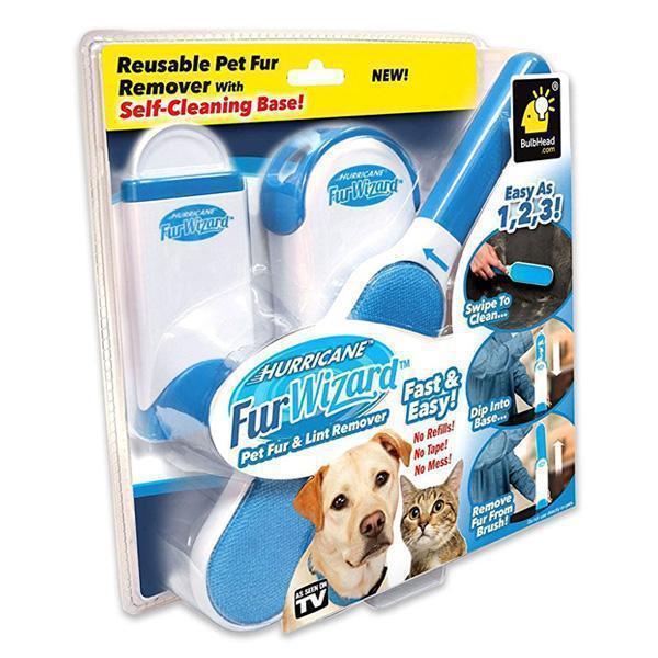 Щетка для уборки шерсти домашних животных Fur Wizard