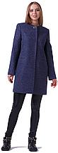 Пальто демисезонное женское NIO Collection Диана Темно-синий, пальто шерстяное женское