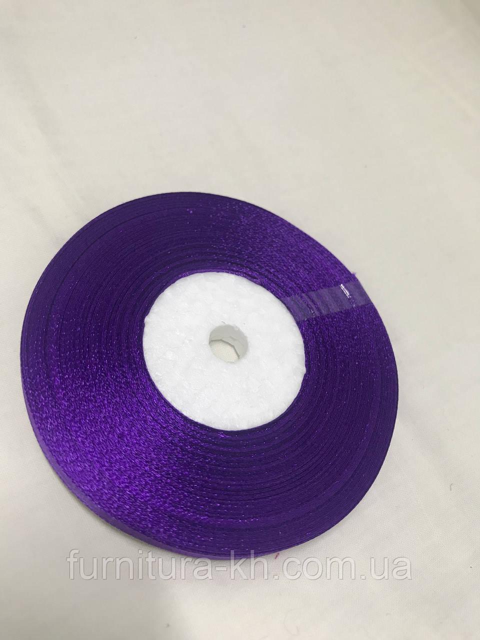 Лента атласная,ширина 0,5 см (33 м ) цвет  т-фиолетовый