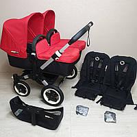 Детская коляска для двойни Bugaboo Donkey Twin Red Бугабу