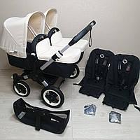 Детская коляска для двойни Bugaboo Donkey Twin Off White Бугабу