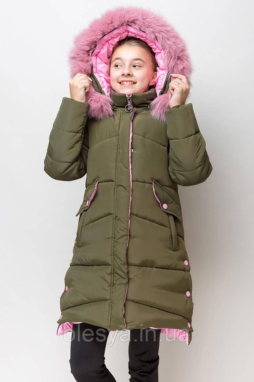 Модная зимняя куртка для девочки  Размеры 134 -164