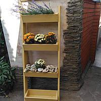 Кашпо деревянное прямоугольное для цветов