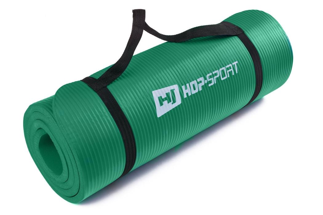 Коврик-Мат для фитнеса из вспененного каучука Hop-Sport 1.5 см (HS-4264-1,5) Зеленый