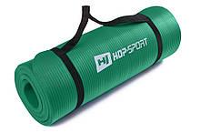 Килимок-Мат для фітнесу з спіненого каучуку Hop-Sport 1.5 см (HS-4264-1,5) Зелений