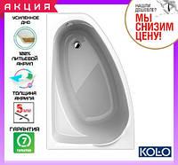Акриловая асимметричная ванна 140x90 см Kolo Mystery XWA3741000 левая