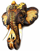 "Настенный декор ""Слон"" дереянный (24х24х10 см) Индонезия"
