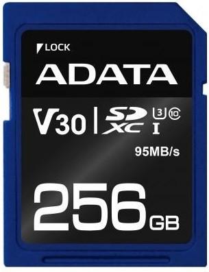 Карта памяти ADATA 256GB SDXC class 10 UHS-I U3 V30 для фотоаппарата