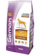 Gemon DOG Maxi Adult для взрослых собак крупных пород курица с рисом 15кг