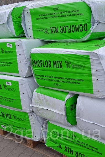 Домофлор  Микс 4 / Domoflor Mix 4 - торфяной субстрат, Domoflor. 250 л