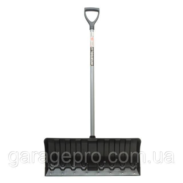 Лопата для уборки снега 620*280мм с ручкой 970 мм INTERTOOL FT-2090