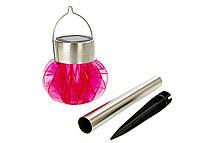 F1-00104, Светильник декоративный уличный на солнечной батарее Melinera розовый-металик