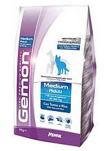 Gemon DOG Medium Adult для взрослых собак средних пород тунец с рисом 3кг