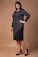 Шерстяное женское платье в клетку, фото 1