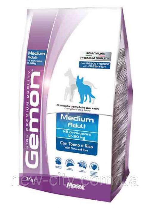 Gemon DOG Medium Adult для взрослых собак средних пород тунец с рисом 15кг