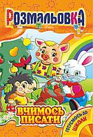 "Книжка Розмальовка Випуск 32 ""Вчимось писати"" (РМ-01-10)"