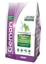 Gemon DOG Medium Adult для взрослых собак средних пород ягненок с рисом 15кг