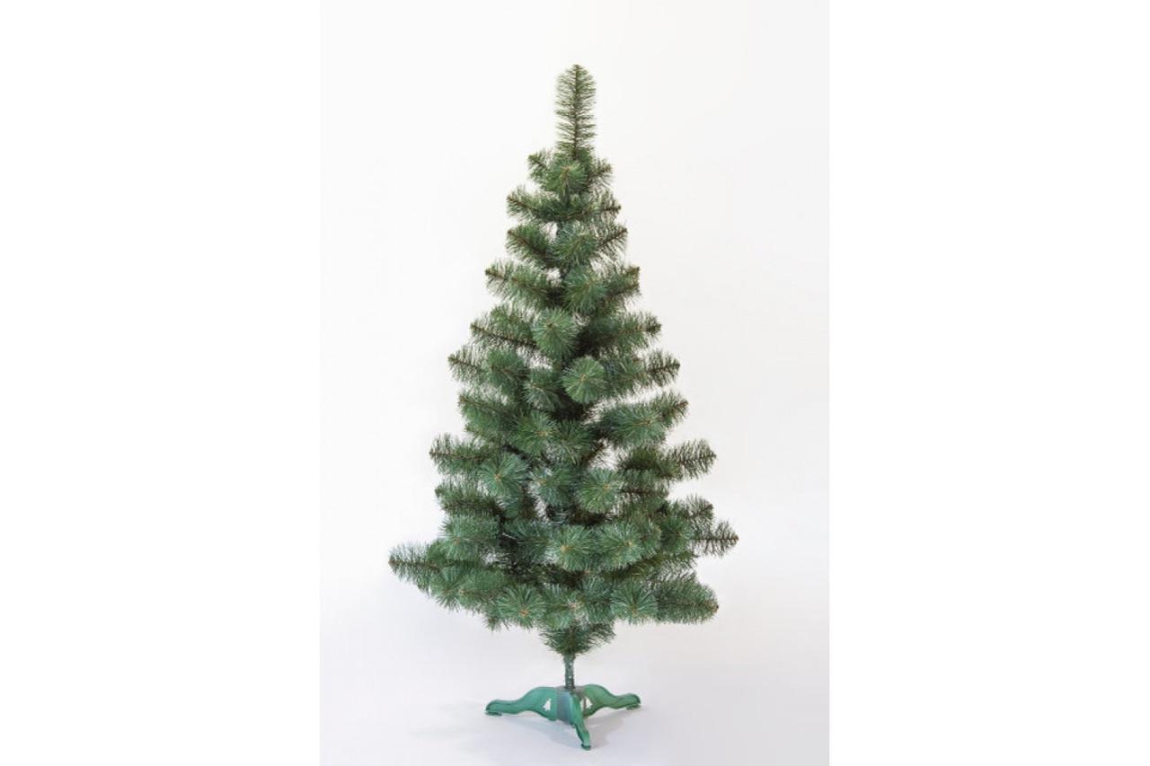 Искусственная ель Принцесса 130 см, белые кончики зеленая ширина елки 92 см нижний ярус