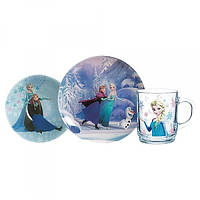 Набор для детей Luminarc Disney Frozen (кружка 250 мл, тарелка 19 см, салатник 16см) 3 пр L0872