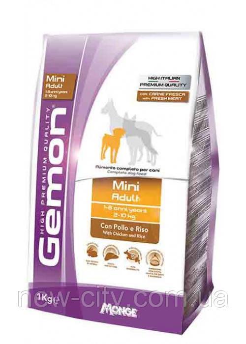 Gemon DOG Mini Adult для взрослых собак мелких пород курица с рисом 3кг