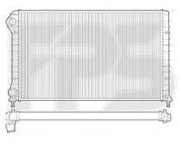 Радиатор Fiat Doblo  (00 -)