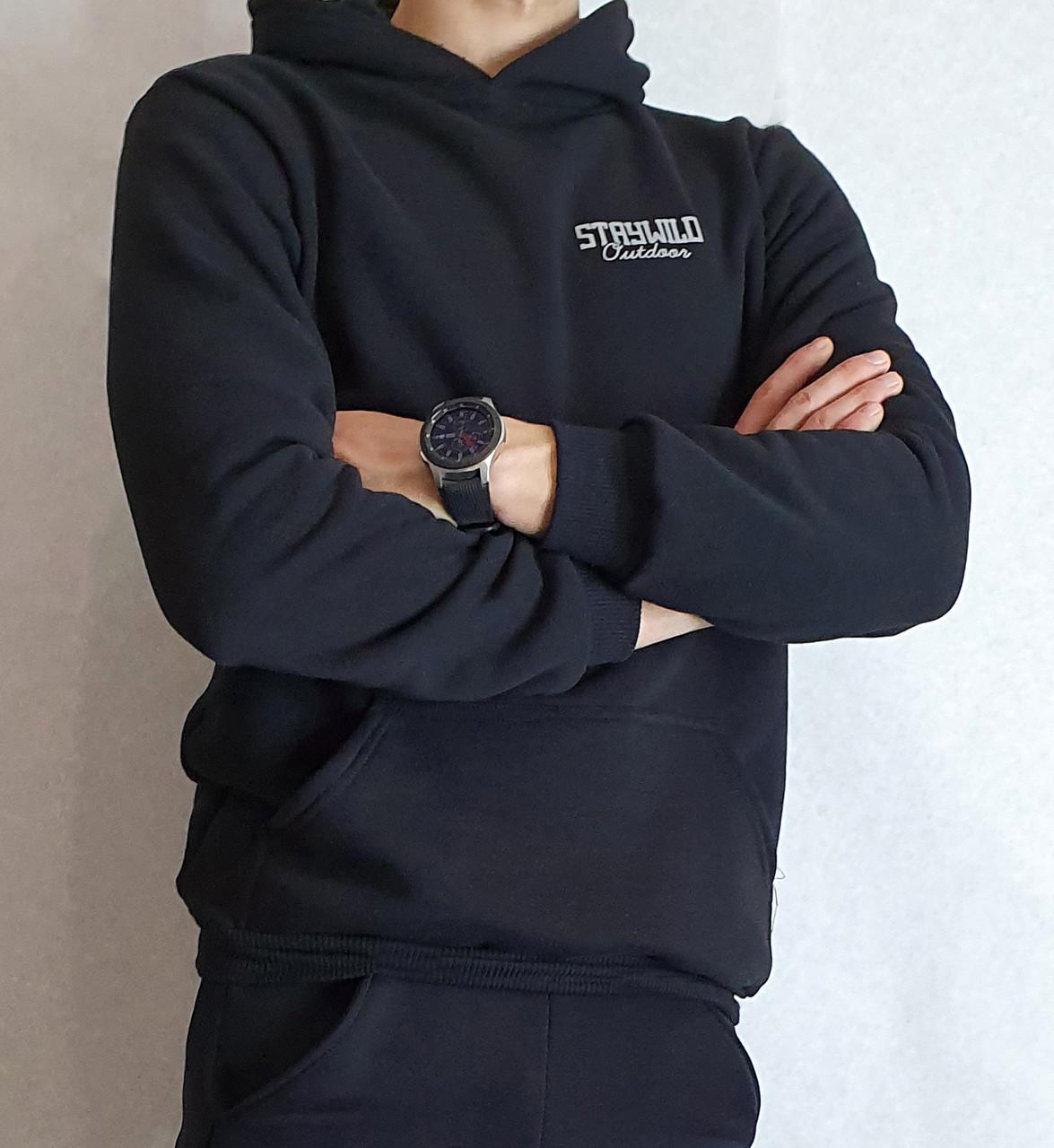 Толстовка теплая мужская с капюшоном тканьТурция