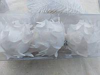 Подвесочки на елку - белые цветы, ткань, диам. 6 см., 3 шт., 90 гр.