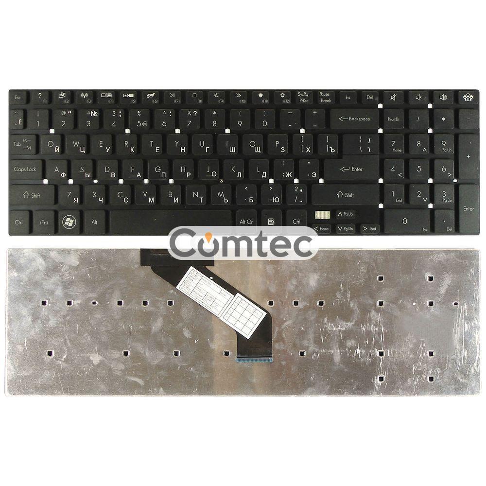 Клавиатура для ноутбука Acer Gateway (NV55) черный, (без фрейма), Русская (горизонтальный энтер)