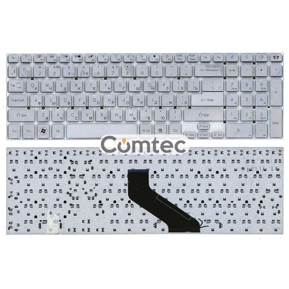 Клавиатура для ноутбука Acer Gateway (NV55S) серебряный, (без фрейма), Русская