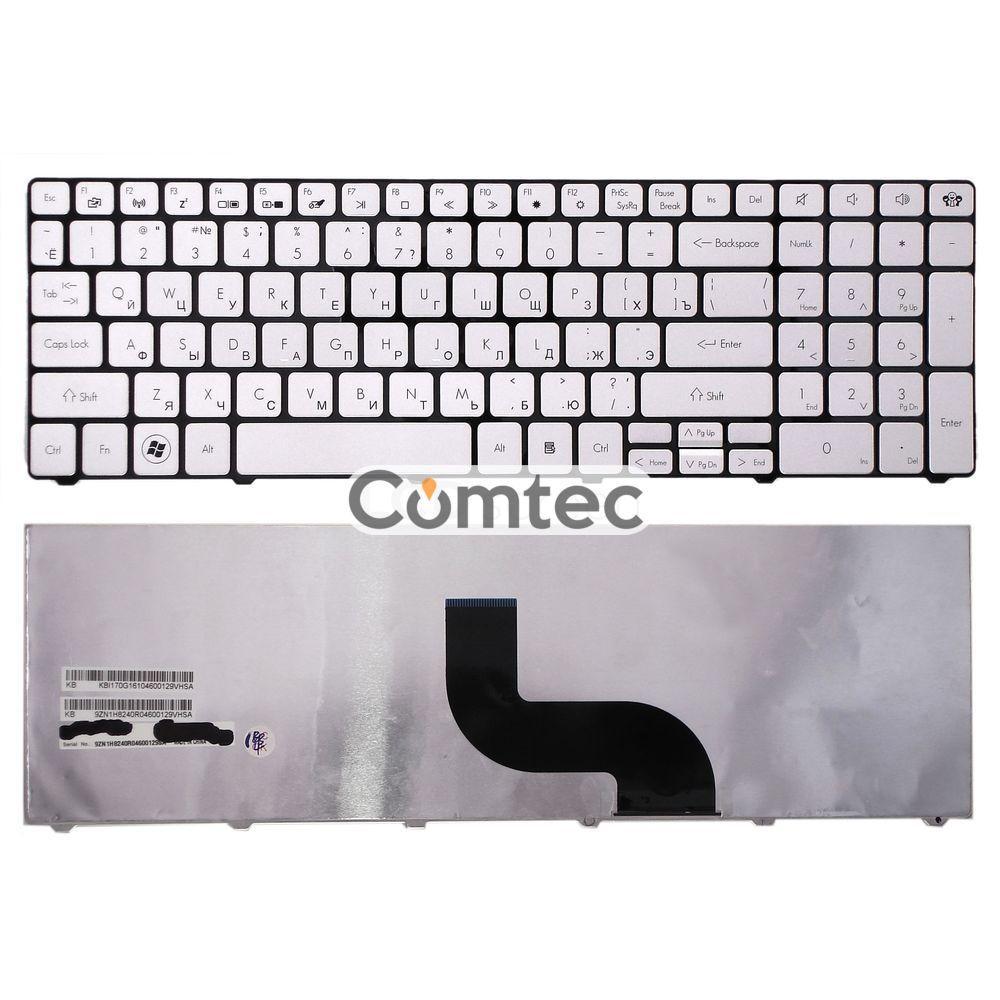 Клавиатура для ноутбука Acer Packard Bell (TM81) серебряный, (без фрейма) RU
