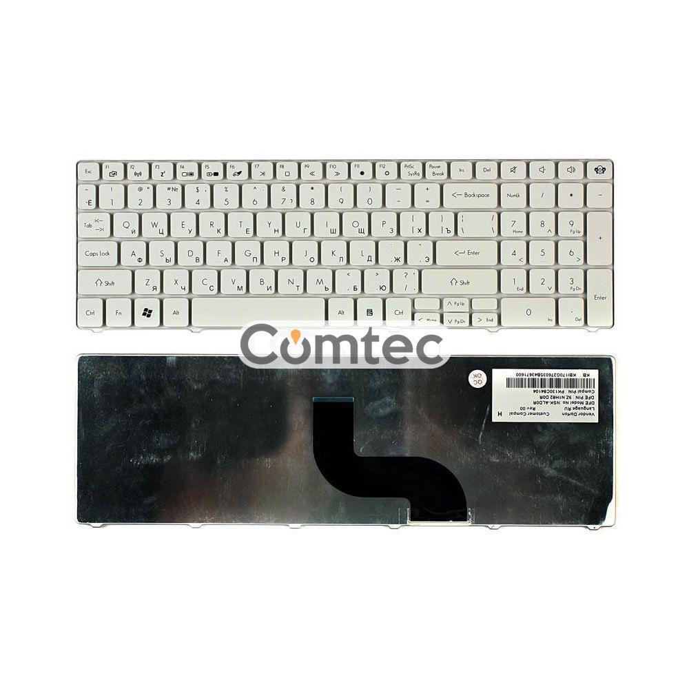 Клавиатура для ноутбука Acer Packard Bell (TM81) белый, (без фрейма), Русская