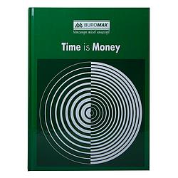 """Книга учета """"TIME IS MONEY"""" 96 листов/клетка, офисная, А4, зеленая BM2400-104"""
