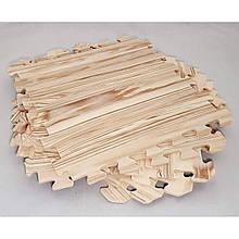 Дитячий ігровий килимок-пазл (мат татамі, ластівчин хвіст) паркет OSPORT (FI-0131) Темний