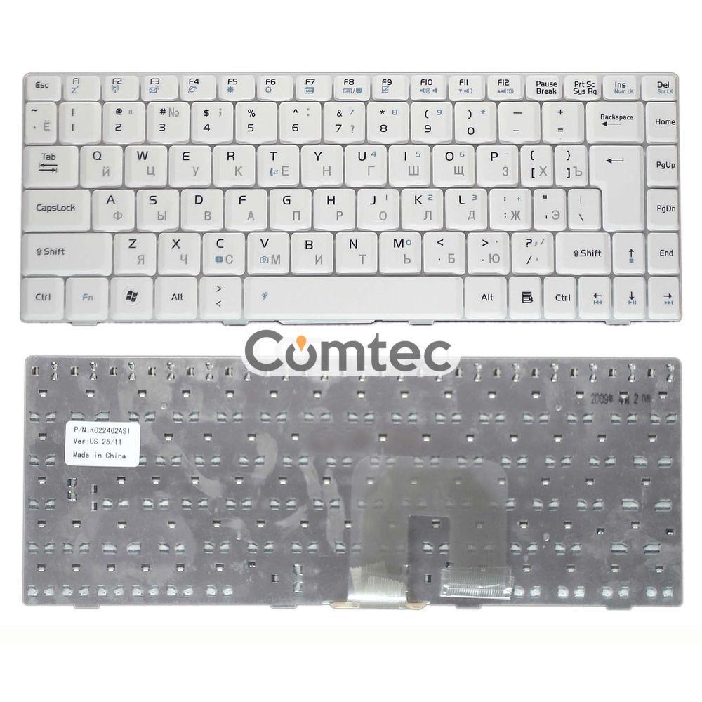 Клавиатура для ноутбука Asus (U3, F6, F9) белый, Русская (вертикальный энтер)