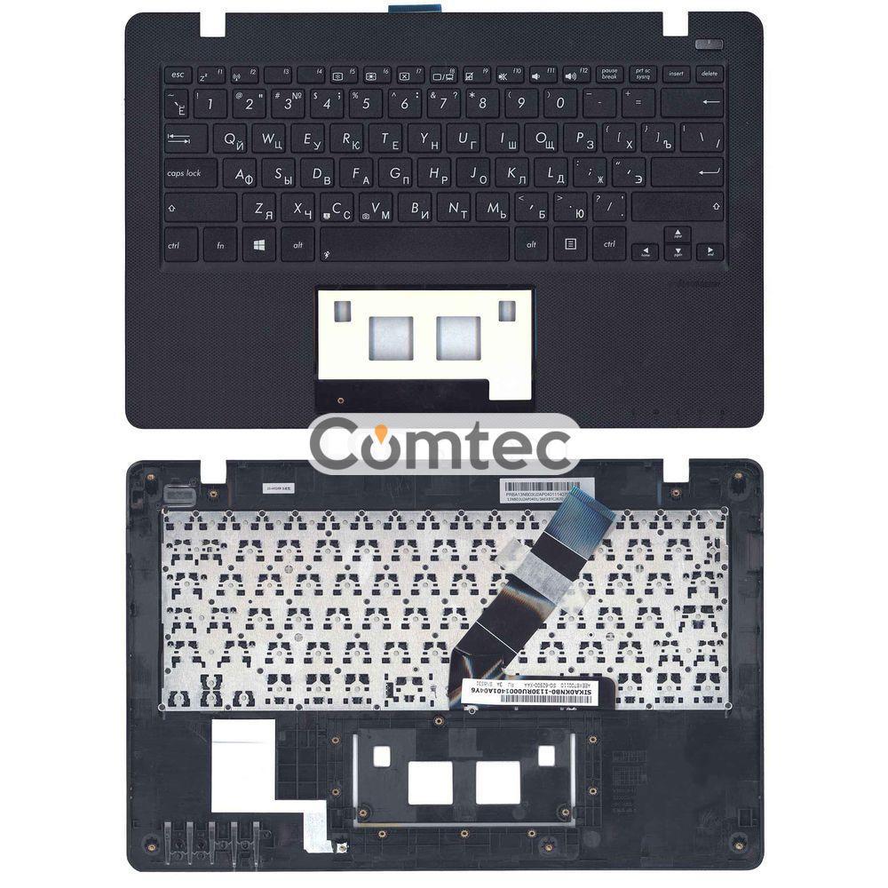 Клавиатура для ноутбука Asus (X200) черный, с топ панелью (черный), Русская