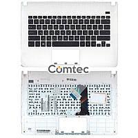 Клавиатура для ноутбука Asus (X301A) черный, с топ панелью (белый), Русская, фото 1