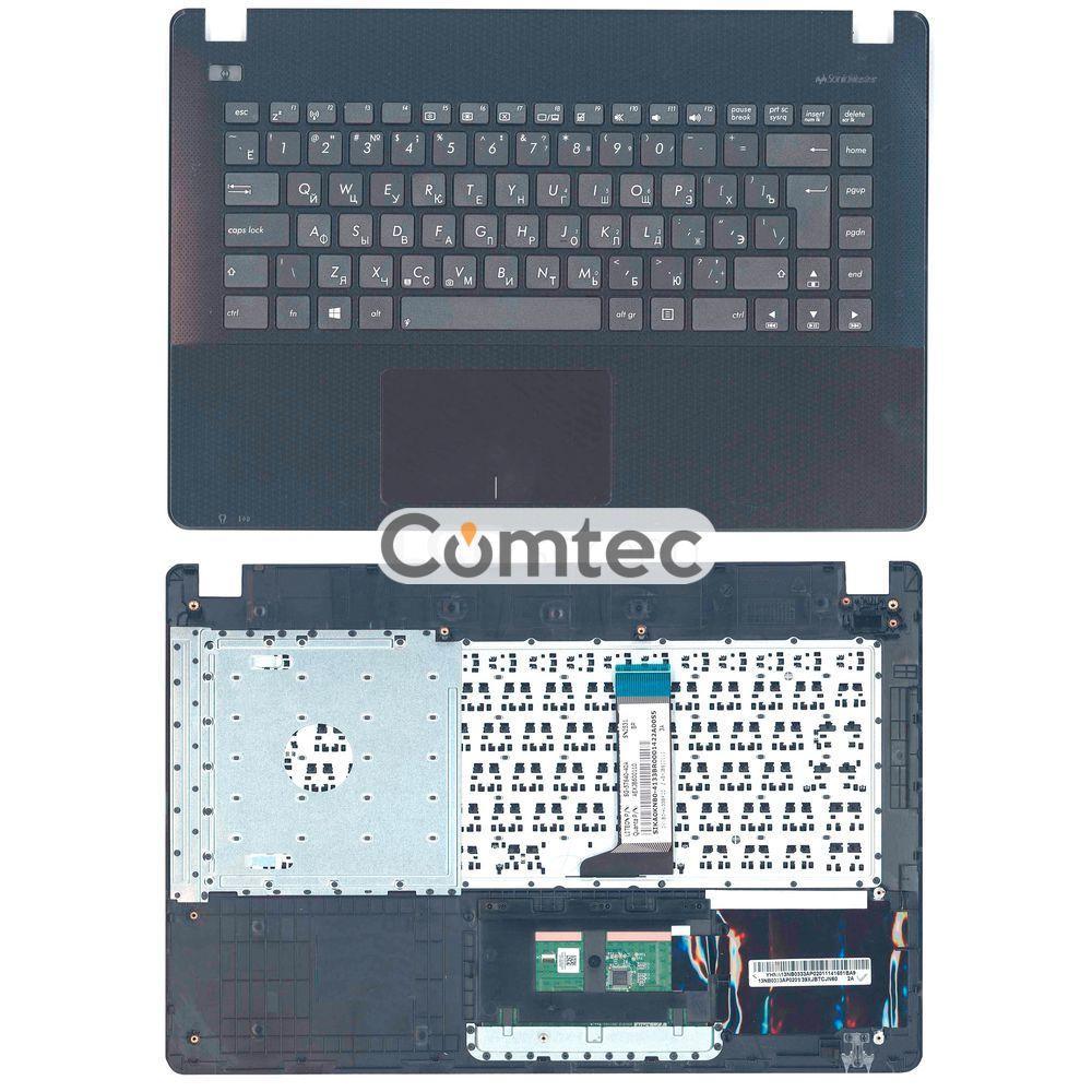 Клавиатура для ноутбука Asus (X451) с топ-панелью черный, (без фрейма) RU