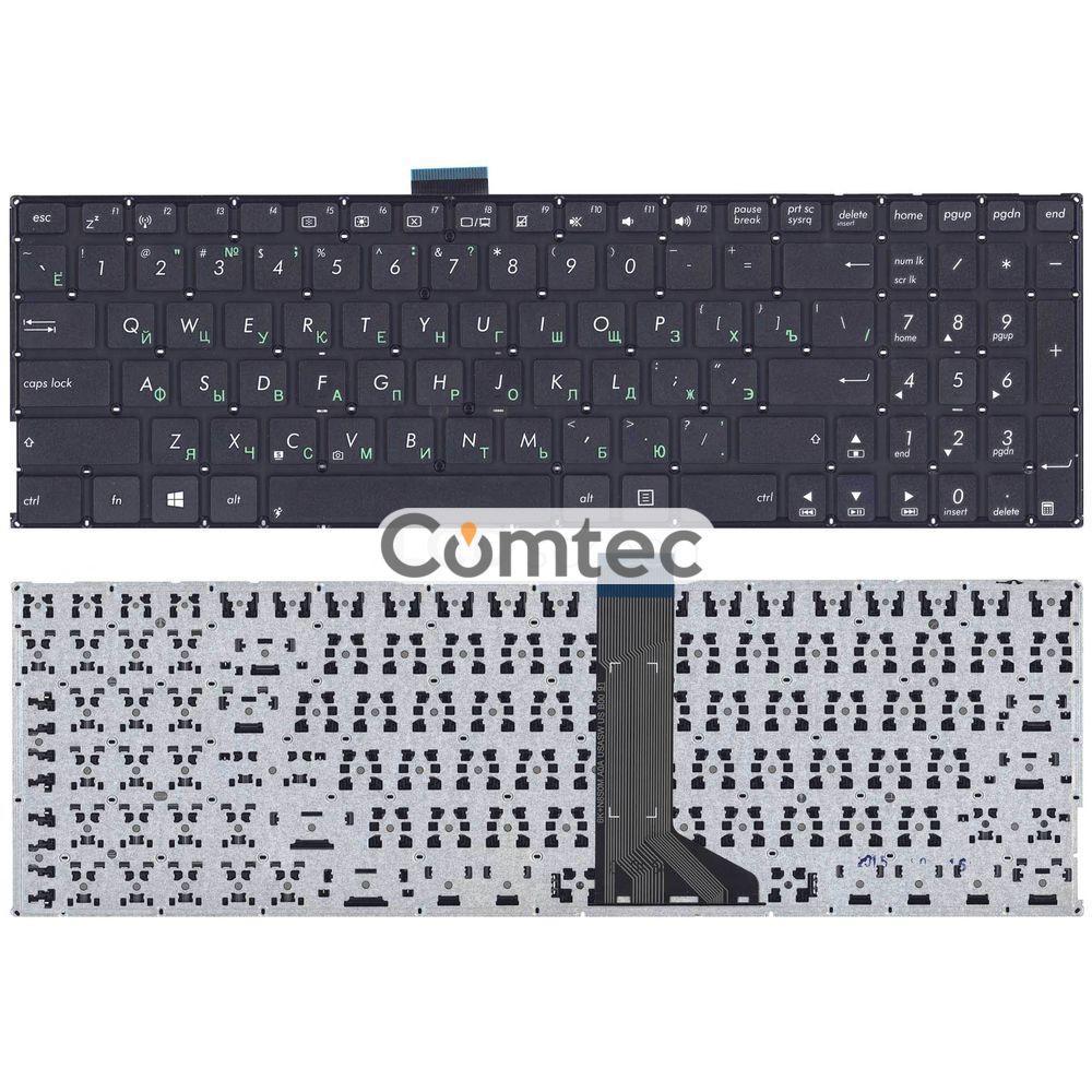 Клавиатура для ноутбука Asus (X555L) черный, (без фрейма), Русская
