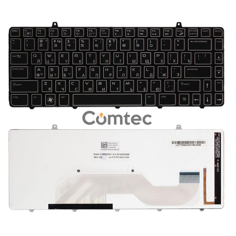 Клавиатура для ноутбука Dell Alienware (M11X-R2, M11X-R3) с подсветкой, черный, Русская