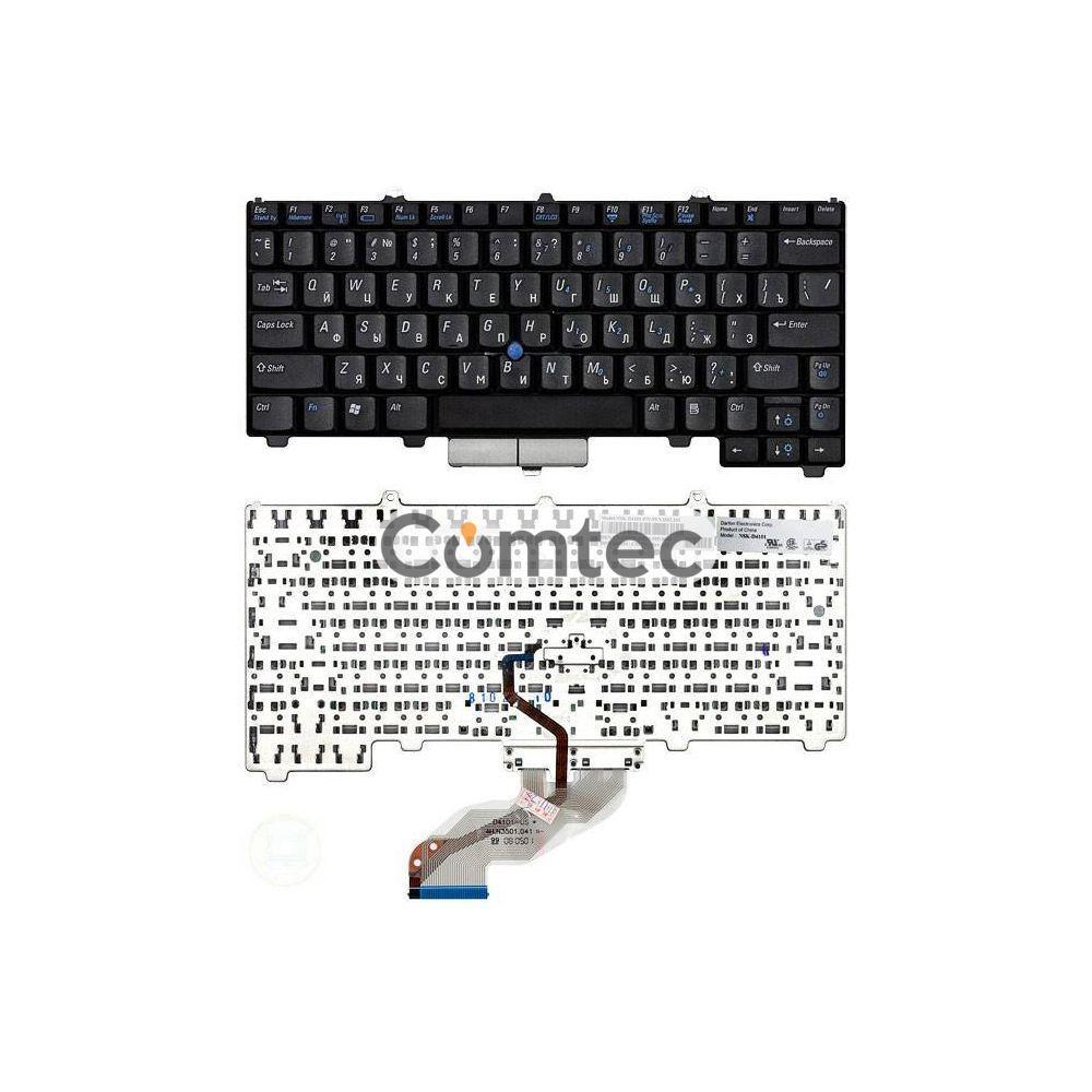 Клавиатура для ноутбука Dell Latitude (D410) с указателем (Point Stick), черный, Русская