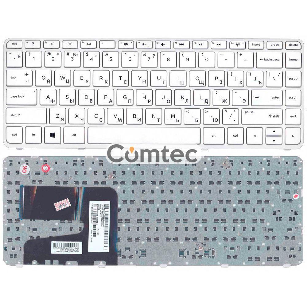 Клавиатура для ноутбука HP Pavilion (14-e) белый, (белый фрейм), Русская, фото 1