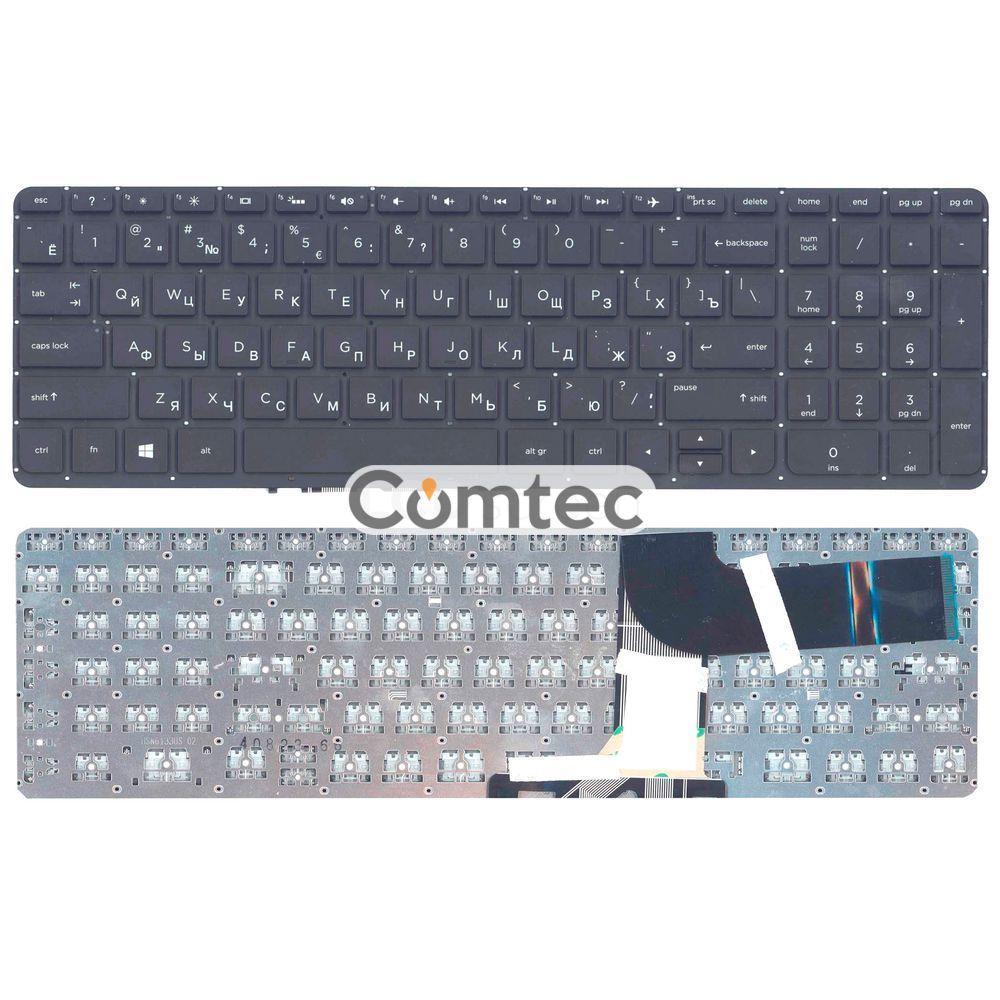 Клавиатура для ноутбука HP Pavilion (15-P) с подсветкой, черный, (без фрейма), Русская