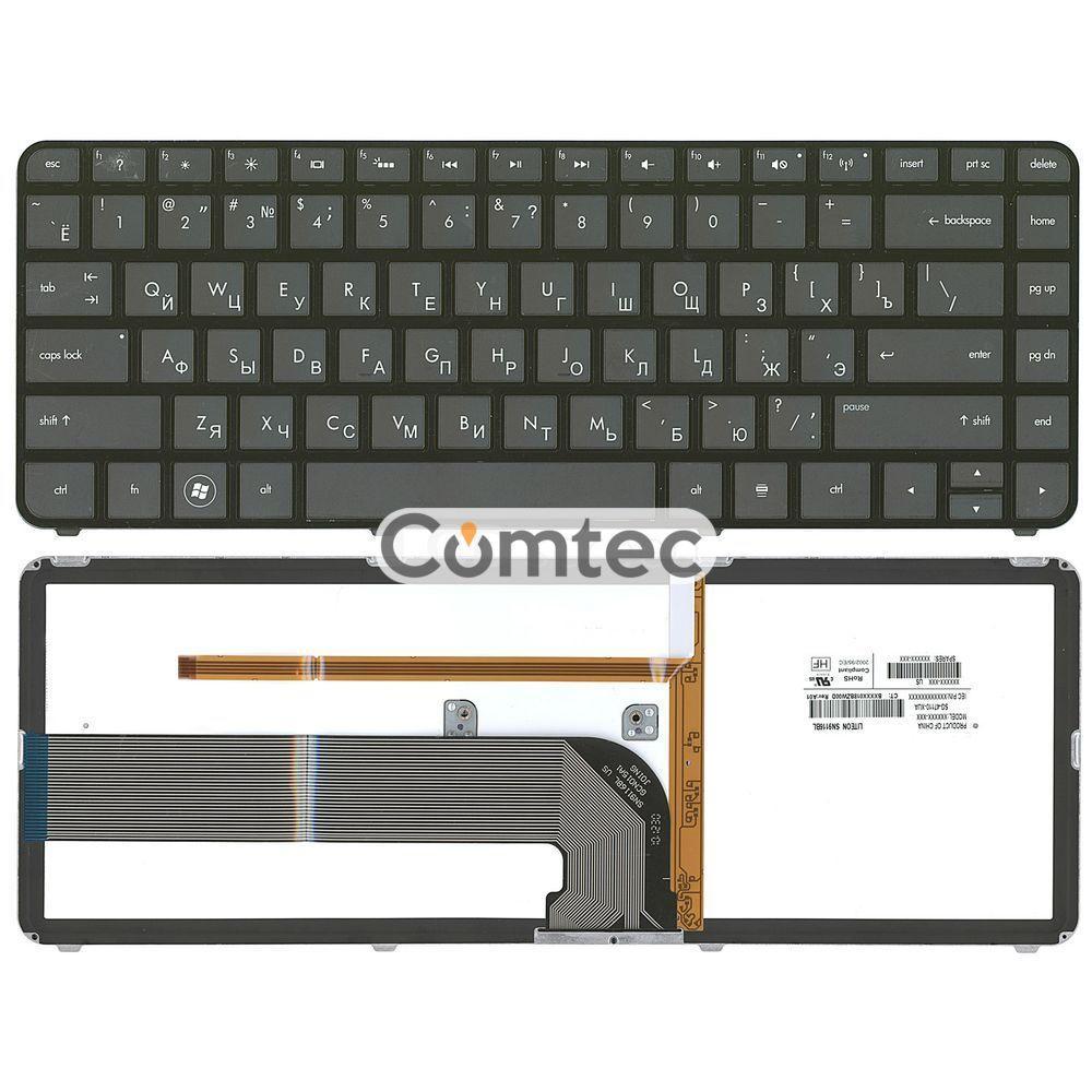 Клавиатура для ноутбука HP Pavilion (DM4-3000) с подсветкой, черный, (черный фрейм) RU