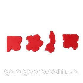 Набор шпателей для силикона 4 шт INTERTOOL KT-2001