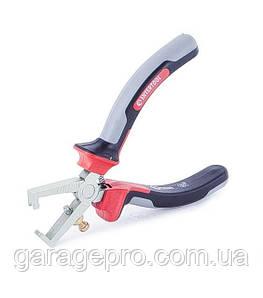 Щипцы для зачистки проводов 160мм CrV с изолированными рукоятками INTERTOOL NT-0229