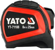 Рулетка Yato с нейлоновым покрытием 8 м x 25 мм (YT-71188)